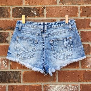 Wallflower Cutoff Jean Shorts acid wash
